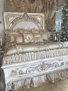 Reilly-Chance Collection Designs and Manufactures an Exclusive line of Luxury Bedding, Window Treatments and Old World Home Decor. Available online and now in our New Retail Store in Bridgeport, Texas! Cozy Bedroom, Bedroom Sets, Modern Bedroom, Bedroom Decor, Master Bedroom, Contemporary Bedroom, Decor Room, Bedroom Storage, Elegant Home Decor