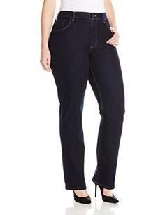 Riders by Lee Indigo Women's Plus-Size Fit No-Gap Waistband Straight-Leg Jean