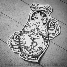 Tattoo Design * Babushka {for Oma} <3