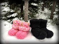Arkimamman Arkiralli: Tossujen ohje Slippers, Gloves, Fur, Boots, Winter, Crotch Boots, Winter Time, Slipper, Shoe Boot