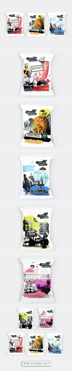 The London Crisp Co. by B&B Studio. Source: bpando.org. Pin curated by #SFields99 #packaging #design