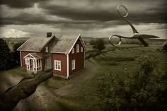 There's Photoshop experts and then there's this guy. Erik Johansson is a full time photographer and retoucher from Berlin, Germany. Surreal Artwork, Surreal Photos, Photomontage, Erik Johansson Photography, Creative Photos, Cool Photos, Creative Design, Surrealism Photography, Foto Art