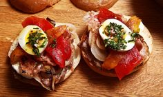 Recipe: Chivito steak sandwich || Photo: Fred R. Conrad/The New York Times