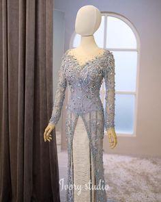 Kebaya Modern Hijab, Model Kebaya Modern, Kebaya Hijab, Kebaya Muslim, Kebaya Wedding, Muslimah Wedding Dress, Dress Brokat, Kebaya Brokat, Model Dress Kebaya