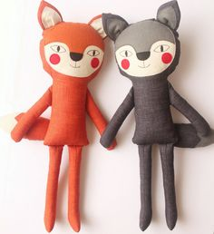 The Big not so Bad Wolf stuffed toy from the Red Riding by blita