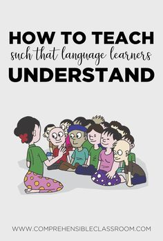 How can teachers teach in such a way that language learners understand them? Learn skills for supporting comprehension that can be used by teachers in language and content classes to support english language learners and second language learners. Ell Strategies, Teaching Strategies, Teaching Tips, Teaching Reading, College Teaching, Kindergarten Writing, English Language Learners, French Language Learning, Spanish Language