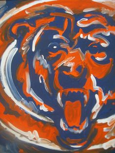 Perfect Chicago Bears Sign,hand Painted,original,Bears Football, Sports Decor, Wall  Hanging,art | Sports Decor, Wall Hangings And Chicago