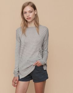 Pull&Bear - mujer - special prices - jersey rayas - vig-claro - 09559306-I2015