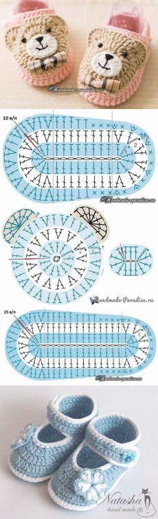 New crochet tutorial hat diy ideas – Knitting patterns, knitting designs, knitting for beginners. Crochet Socks Pattern, Bonnet Crochet, Crochet Baby Booties, Crochet Slippers, Crochet Beanie, Knitting Patterns, Knit Crochet, Crochet Patterns, Crochet Ideas