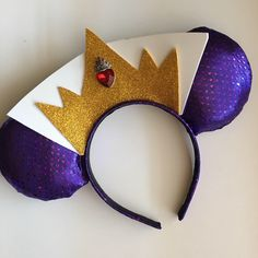 A personal favorite from my Etsy shop https://www.etsy.com/listing/524181880/evil-queen-inspired-mouse-ears