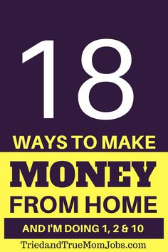 Do you want to find a job that offers the flexibility to work from home, set your own hours, and spend time with your family? Take a look at the top 18 ways to make money from home and learn how to get started and where to apply. Online Earning, Earn Money Online, Online Jobs, Online Income, Best Money Saving Tips, Money Saving Mom, Money Tips, Earn Money From Home, Way To Make Money