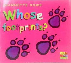 Whose Footprints? by Jeannette Rowe Flip the Flap picture book ABC books used 3 Picture, Picture Books, Sleepy Bear, Footprints, Ebay
