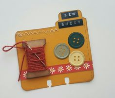 Sew sweet Rolodex card by Lolly