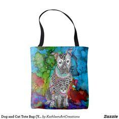 VIDA Tote Bag - Abstract Cat Tote by VIDA nI1aIK