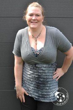 Shirt - Curvy & Fancy - Viscose-Jersey - Ruffle Slinky - Glückpunkt.  Nähen - eBook - Shirt - Top - Anfänger - Stillshirt