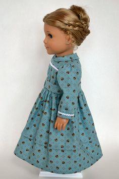 American Girl 18 Inch Doll Dress Historical by JennyWrensDressShop