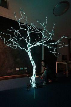 Electroluminescent Tree by Ian Hobson
