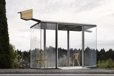 Zwing Bus Stop, Smiljan Radic. Photo © Adolf Bereuter