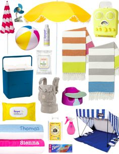 This is such a great list of baby beach essentials. // Essentials for Taking Your Baby Beachside Beach Day, Beach Trip, Baby Beach, Baby Needs, Baby Love, Beach Essentials, Baby Hacks, Baby Registry, Trendy Baby
