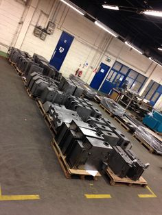"Kel-Tech Engineering 53 tanks that have come from  ""Small Tank Cell"" that have been fabricated, tested and logged and are now ready for painting. After painting they will be washed for internal cleanliness and then fully fitted out with all gauges, filters, etc packed off and then ready for shipment to the OEM"
