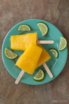 Everyone loves ice pops, but grown-ups really love them when they're made with fresh mango, lime juice and tequila.