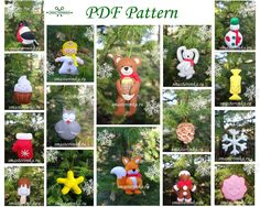 Excited to share the latest addition to my #etsy shop: 21 Christmas tree toys Felt ornaments Christmas decor ornament Sewing PDF Pattern Baby Sewing Pattern Felt Toy Soft Toy PDF Felt Pattern http://etsy.me/2iYPEEa #materialy #novyjgod #ite #felttoy #pdfpattern #feltpd