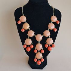 New Fashion Jewelry Coral Bubble Bib Statement Necklace, bridesmaid gift, Party Necklace,wedding necklace