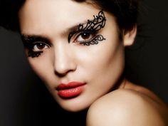 DIY Halloween Makeup : halloween  Face Lace