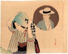 Lotto 00225 N.1 xilografia kuchi-e Tomioka Eisen TRA LE MONTAGNE PROFONDE Anno: 1900 Condizioni: buone Dimensioni: 28 x 22 cm