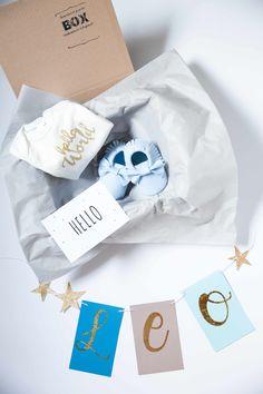 """Ich bin eine """"Welcome to the world""""-Box - eine Super-Geschenk-Idee zur Geburt! #Geschenkbox #personalisiert #Freudeschenken #allesineinerBox Partys, Baby Party, Super, Stocking Stuffers"""