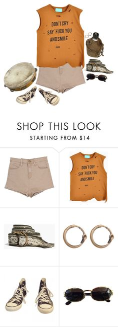 """#516"" by egaal ❤ liked on Polyvore featuring Madewell, Slow and Steady Wins the Race, Acne Studios, Converse and Versace"