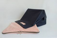 Handmade minimal leather bag . Two functions, one form. #gooddesign