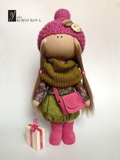 Купить или заказать Интерьерная кукла. в интернет-магазине на Ярмарке Мастеров. Интерьерная текстильная кукла ручной работы.