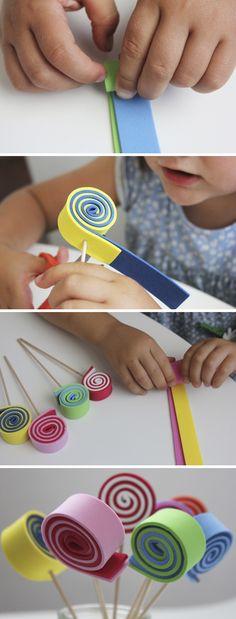 EVA foam lollipops  - foamy / goma eva