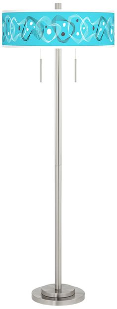 Vibraphonic Bounce Giclee Brushed Nickel Garth Floor Lamp - #3P321-15N05   Lamps Plus
