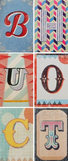 print & pattern: PAPERCHASE - alphabet cards