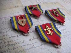Build your own Steampunk medal lapel pin brass by GhostCatJewelry, $20.00