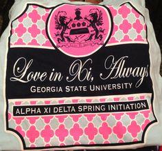 Alpha Xi Delta initiation shirt!