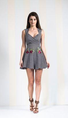 VESTIDO MALHA NEO PRENE TEXTURIZADA LISTRADO CURTO - VE21660-58   Skazi e Skclub, Moda feminina, roupa casual, vestidos, saias, mulher moderna