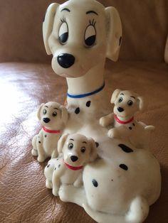 Vintage Piggy Bank 101 Dalmatian Dog Figurine by SuzyPoodleVintage