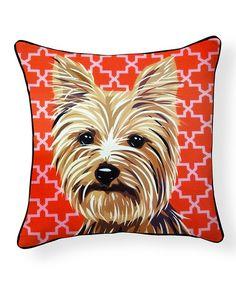 Look at this #zulilyfind! Yorkshire Terrier Pillow #zulilyfinds