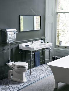 Traditional Bathroom - Design and Installation Bad Inspiration, Bathroom Inspiration, Bathroom Styling, Bathroom Interior Design, Burlington Bathroom, Edwardian Bathroom, Baños Shabby Chic, Bad Styling, Wash Stand