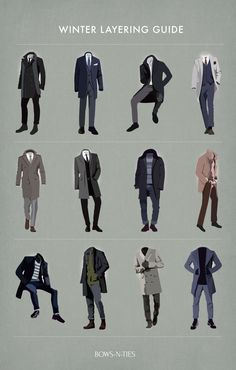 "bows-n-ties:  "" Menswear Layering Guide For The Stylish  """