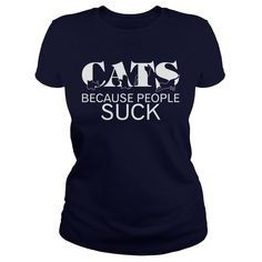 Awesome!! CATS-BECAUSE-PEOPLE-SUCK-Navy-Blue-_w91_-front...