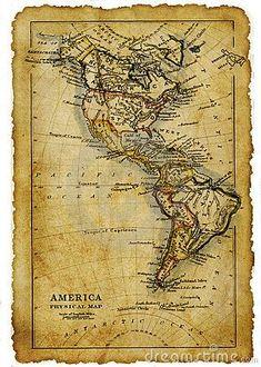 Ancienne carte de l'Amérique