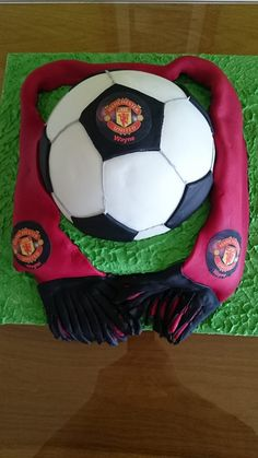 Manchester United Football and Scarf