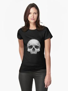 A classic skull illustration constructed from watercolour, ink and pen. Solid white to pop on the darkest of shirts or days… • Millions of unique designs by independent artists. Find your thing.