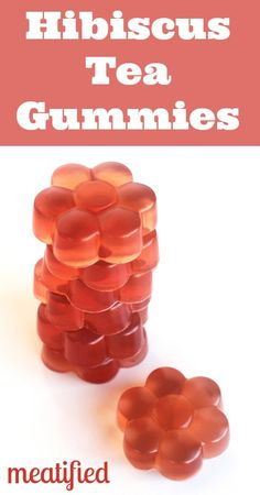 Hibiscus Homemade Gummies from http://meatified.com #paleo #gelatin #gummies