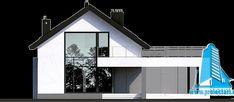Proiect de casa cuparter, mansarda,garaj si terasa de vara-100802 | | Proiectari si Constructii Bungalow, Garage Doors, Fair Grounds, Mansions, Architecture, House Styles, Outdoor Decor, Home Decor, Arquitetura