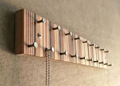 Jewelry Organizer, Jewelry Hanger, Jewelry Display, Necklace and Ring Organizer, Modern Metal and Wood by andrewsreclaimed on Etsy https://www.etsy.com/listing/177941003/jewelry-organizer-jewelry-hanger-jewelry
